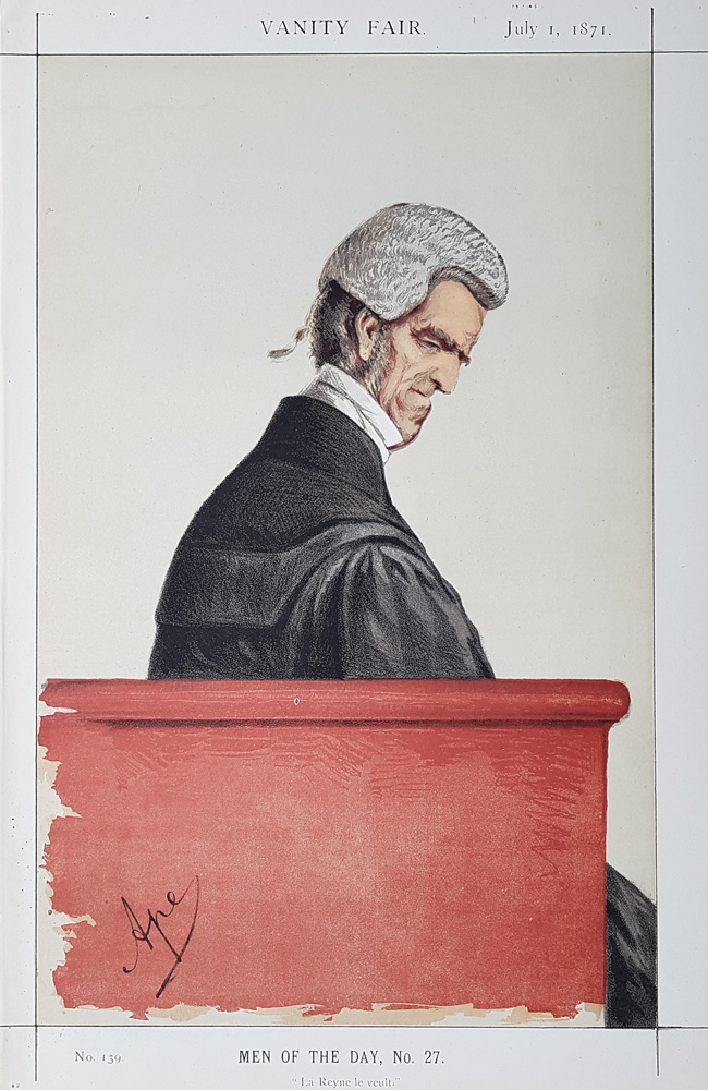 Sir John George Shaw-Lefevre   Vanity Fair legal print for sale