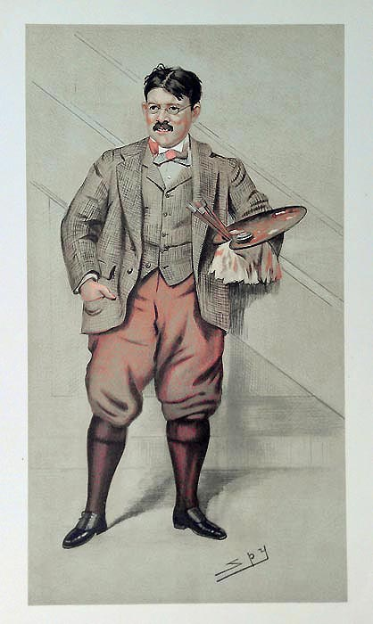 Vanity Fair caricature of artist Edwin Abbey R.A.