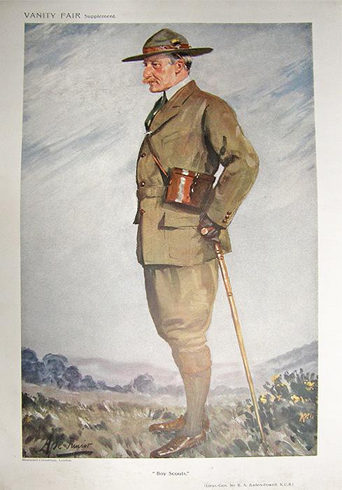 Lt Gen Sir Robert Baden Powell Vanity Fair Print 1911