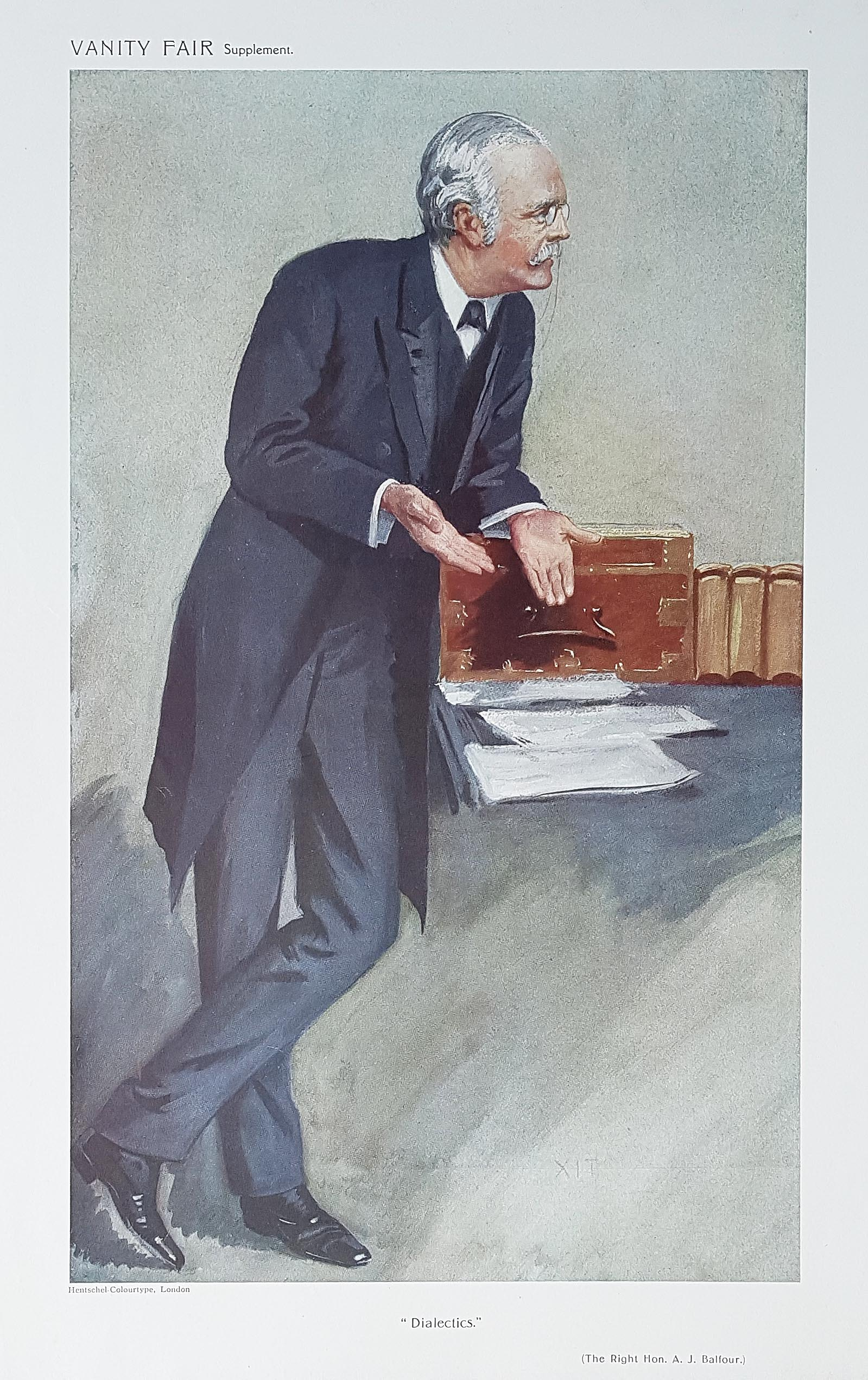 Original Vanity Fair  Print of The Right Hon. A. J. Balfour for sale