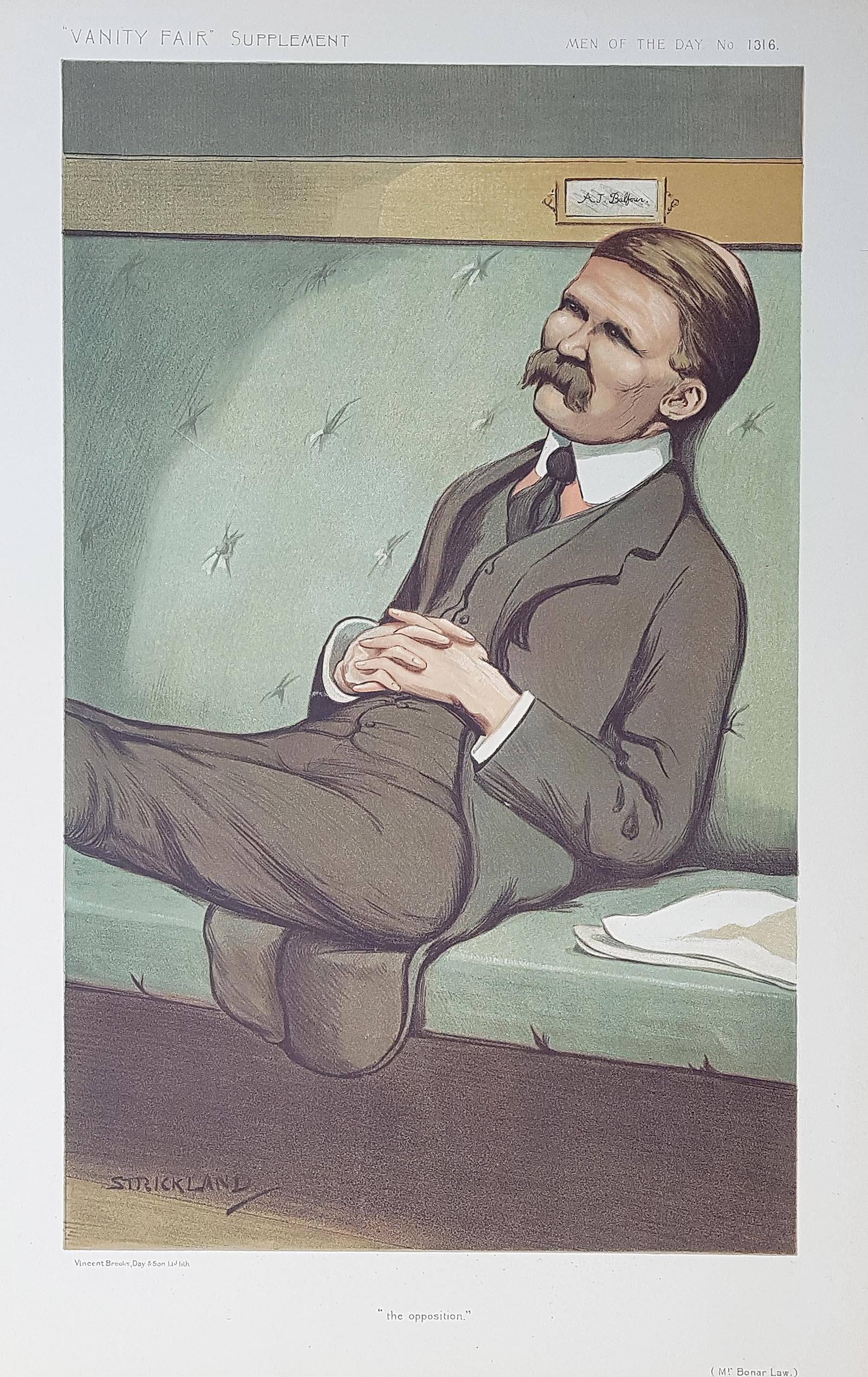 Original Vanity Fair Print of Rt. Hon. Andrew Bonar Law MP PC JP  for sale
