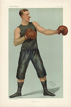 Captain Edgeworth Johnstone - Vanity Fair Boxing print for sale