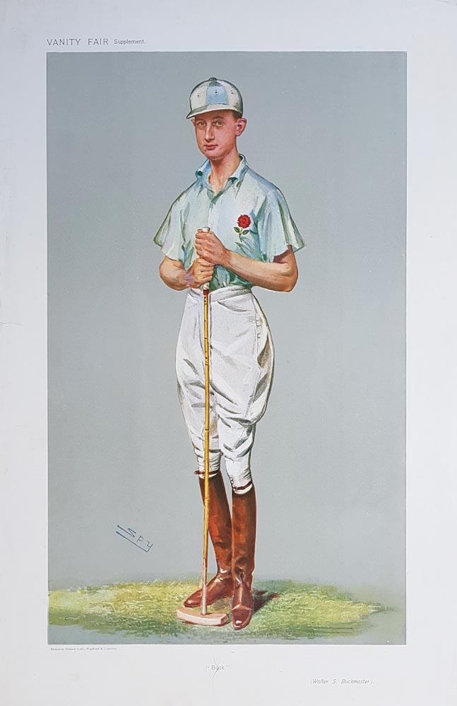 Walter Buckmaster Vanity Fair Polo Print For Sale Dated 1907