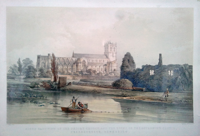 Prirory Church, Christchurh, Hampshre Lithograph