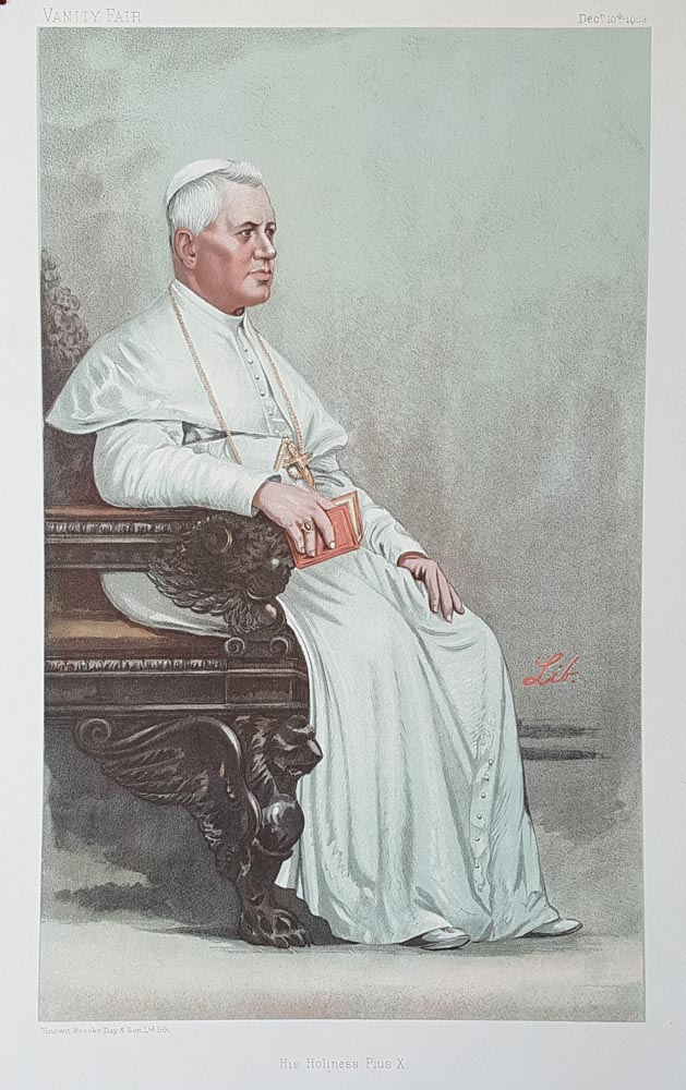 His Holiness Pope Pius X  Vanity Fair Print for sale