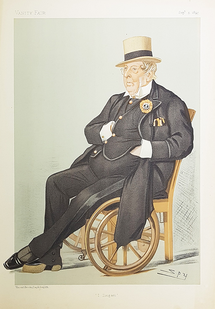 Spy Cricket Print John Loraine Baldwin I Zingari 1892