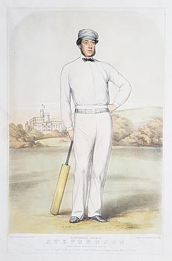 Heathfield Harman Stephenson - Cricket Lithograph by Anderson for sale