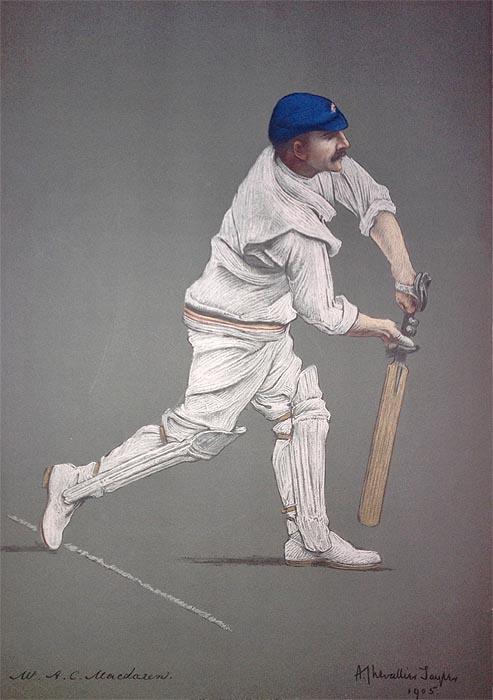A C Maclaren Original Chevallier Tayler Cricket Print