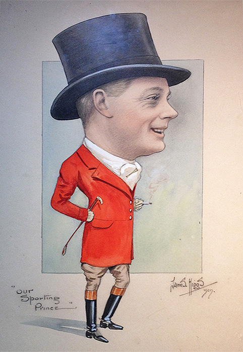 Original Caricature - Edward VIII - James Higgs 1929