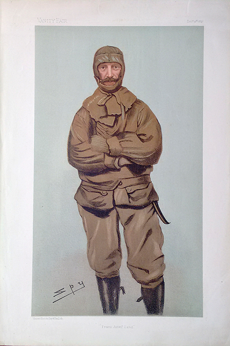 Actic Explorer caricature for Vanity Fair