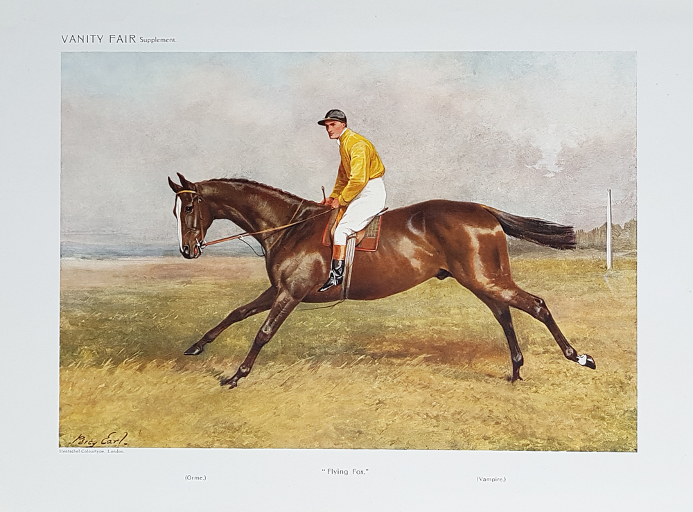 Original Vanity Fair Spy Race Horse Print for sale Rocksand