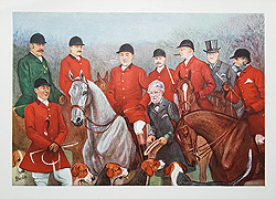 Fox Hunting antique prints