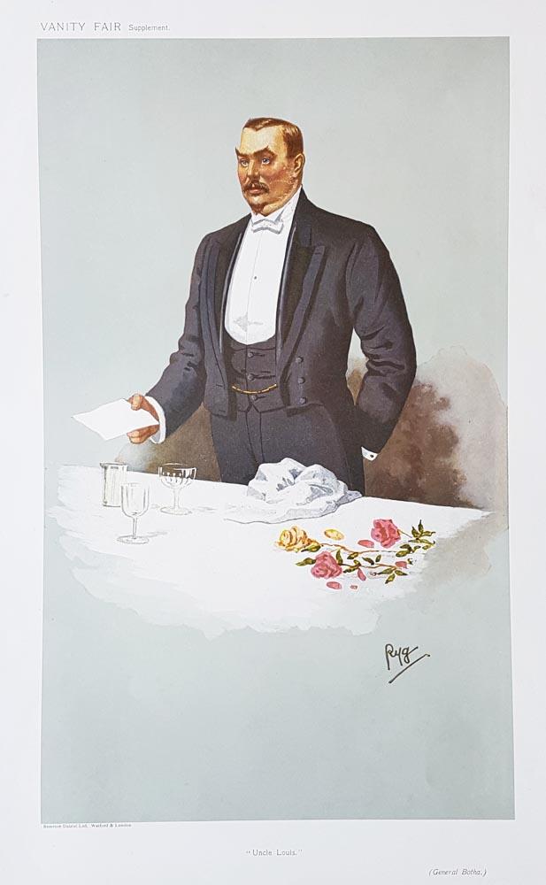 Vanity Fair Military Print General Botha South Africa 1907