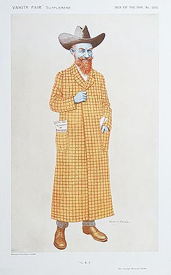 George Bernad Shaw caricature for sale - Vanity Fair