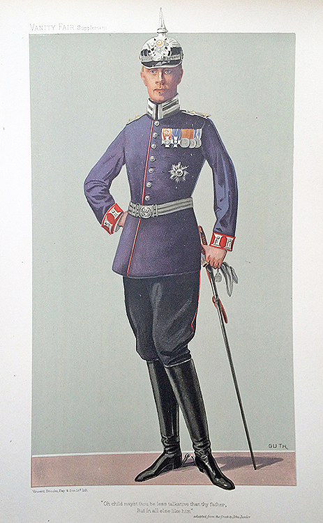 Original Vanity Fair Royalty Print for sale The German Crown Prince