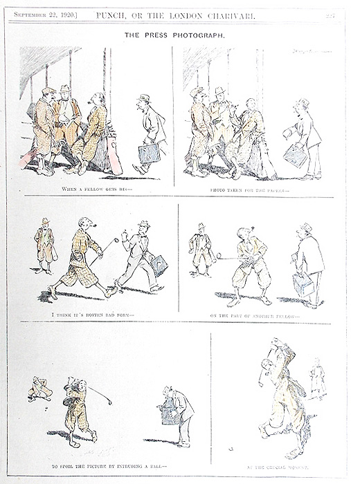 Golf Cartoon from Punch 1929 Golfers gift