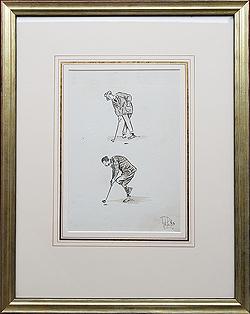 Golf cartoon Putting Techniques 2