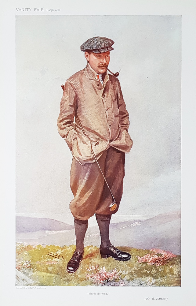 Vanity Fair Print Golfer R Maxwell Spy