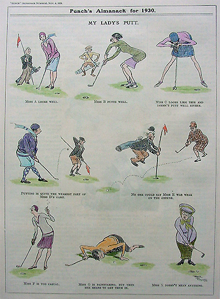 Ladies Golf Cartoon 1929