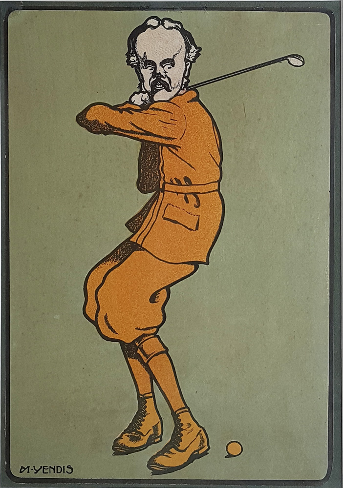 Victorian Golf Caricature by Sidney Ransom