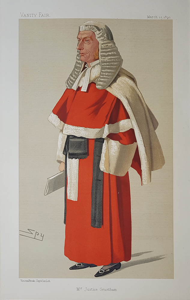 Sir William Grantham  Vanity Fair Red Robe Judge print for sale