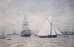 H.M.S. Victory and Dreadnought - Portsmouth Harbour