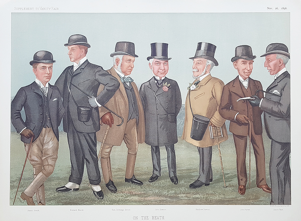Original Vanity Fair  horse racing Print for sale On the Heath
