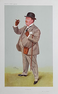 Prentice - Race horse owner caricature by Spy