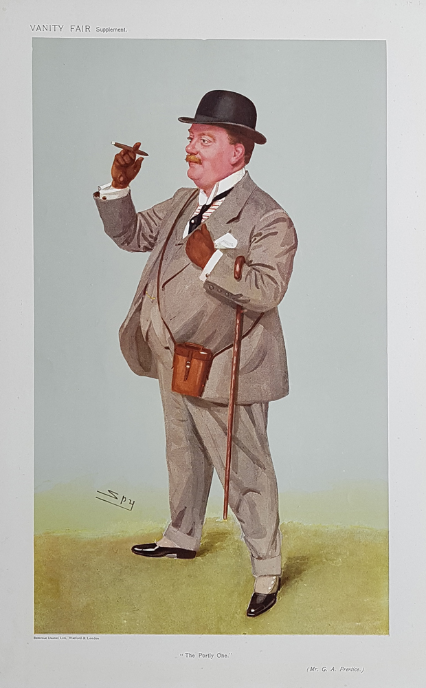 Original Vanity Fair Spy horse racing Print for sale Mr G A Prentice