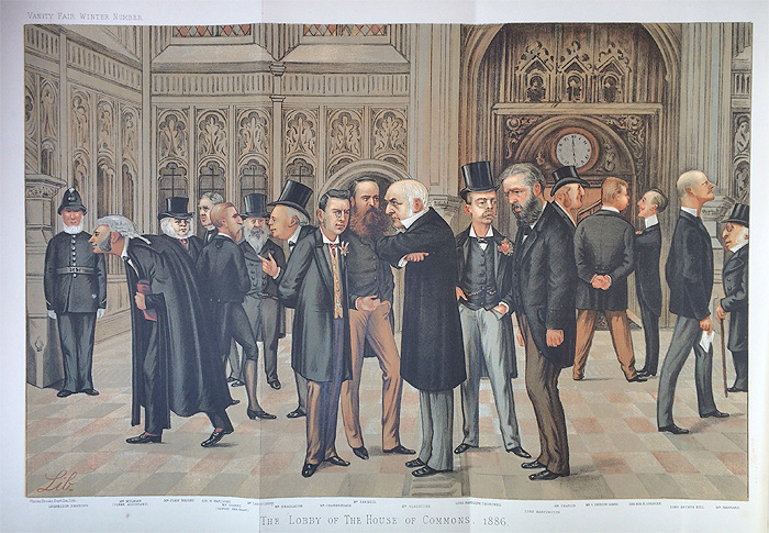 Original Vanity Fair Print of The Lobby of the House of Commons for sale