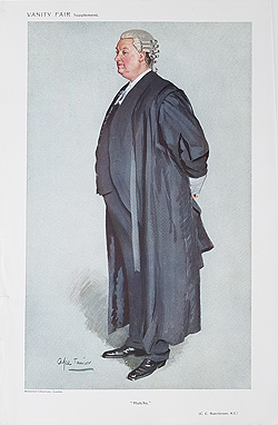 Hutchinson Barrister caricature for sale
