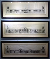 Inigo Jone - Palace of Whitehall antique print