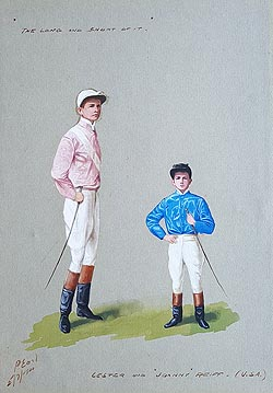 Lester and Johnny Reiff Jockey caricatures for sale