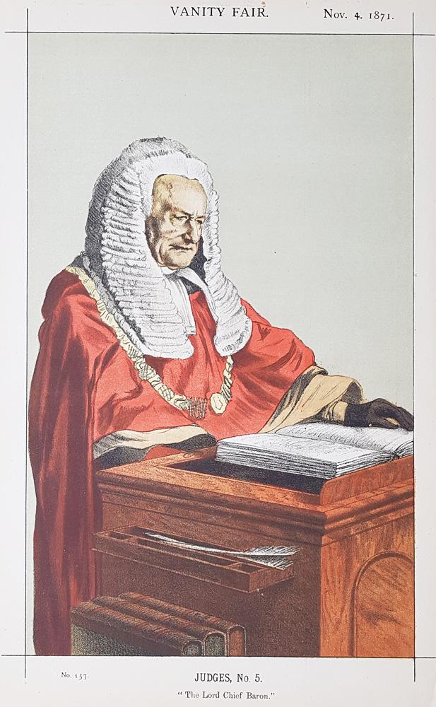 Vanity Fair Legal Print Sir Fitz Roy Edward Kelly 1871 For Sale