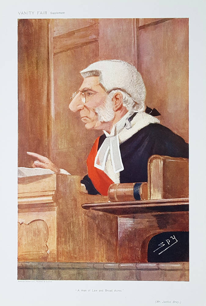 Mr Justice Bray  Vanity Fair  Judge print for sale