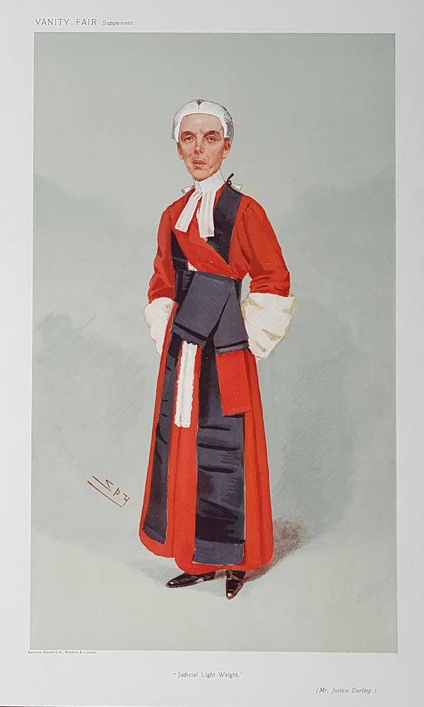 Justice Darling  Vanity Fair Red Robe Judge print for sale