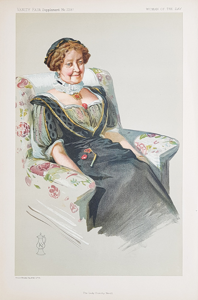 Original Vanity Fair  Print for sale The Lady Dorothy Nevill