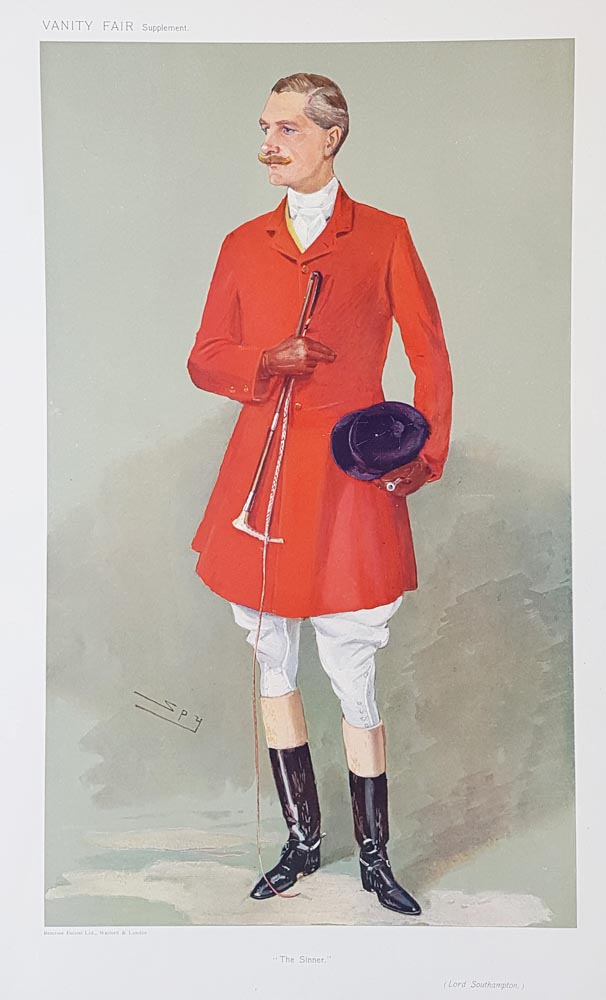 Vanity Fair Hunting caricature - Lord Southampton 1907
