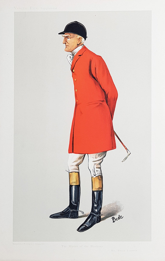 Original Vanity Fair Spy Print for sale Edgar Lubbock