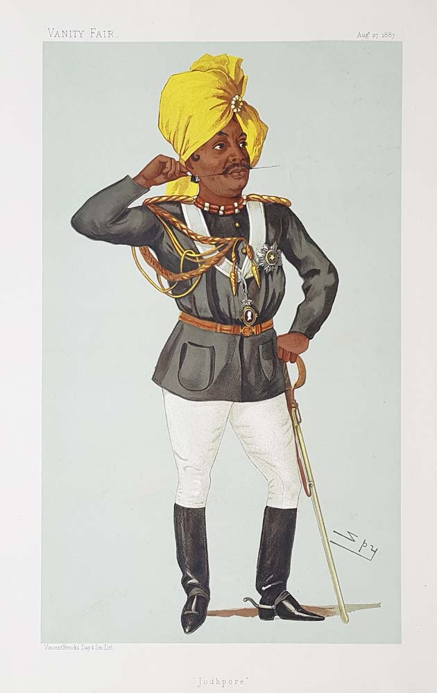 Original Vanity Fair Royalty Print for sale Maharaj Pertab Sing