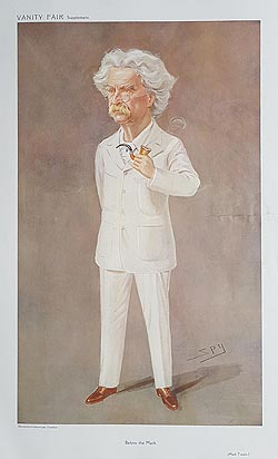 Mark Twain original Spy Print