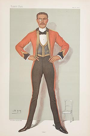 Captain Oswald Henry Ames military caricature