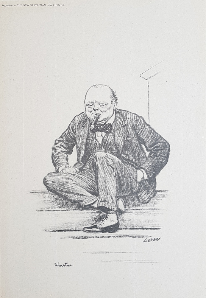Caricature of Winston Churchill by Sir David Low from the New Statesman