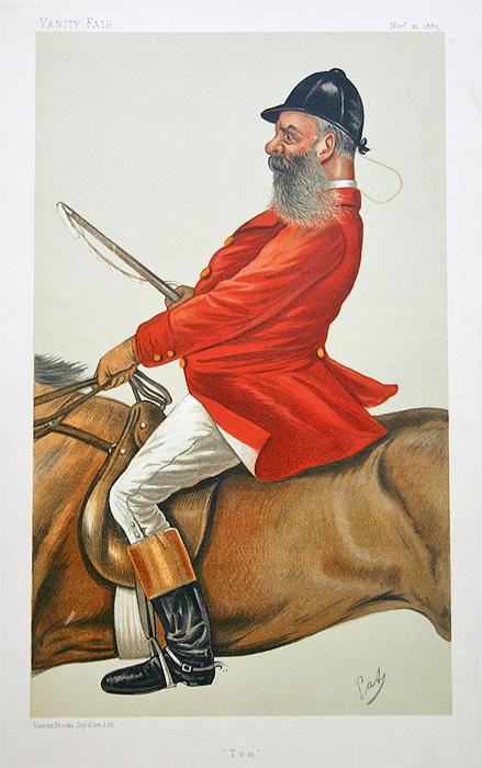Vanity Fair Hunting Print For Sale Thomas Nickalls 1885