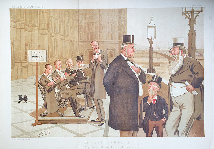 Original Vanity Fair Print of On the Terrace for sale