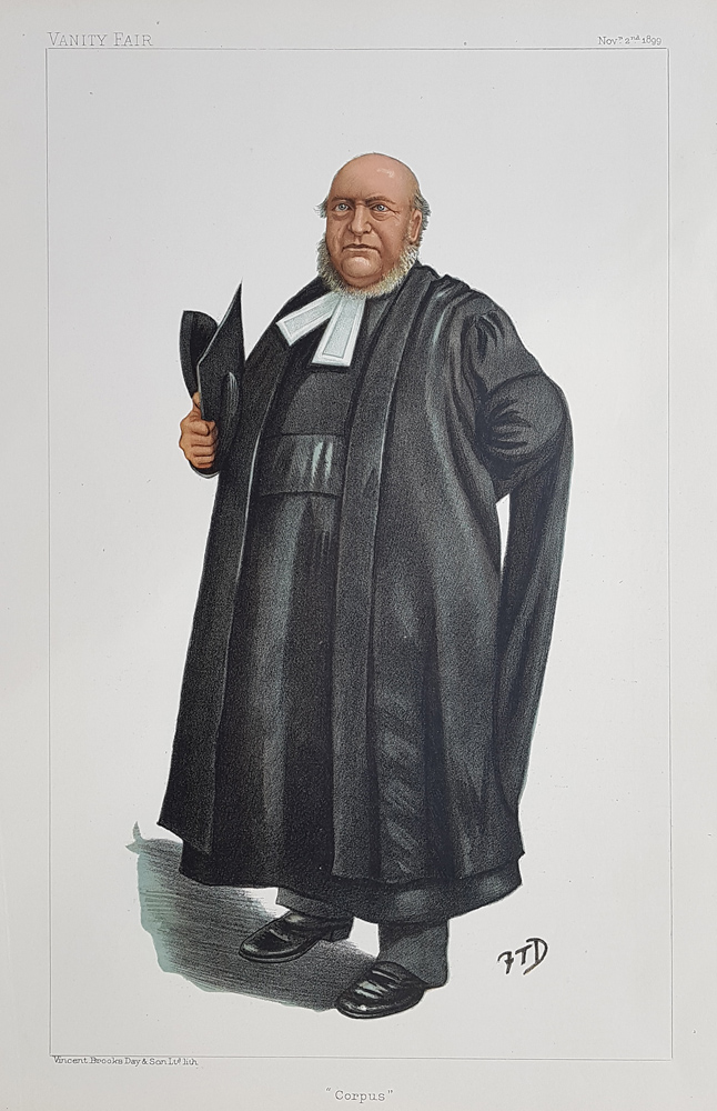 Rev. Thomas Fowler - Vice Chancellor of Oxford Original Vanity Fair Spy Print for sale