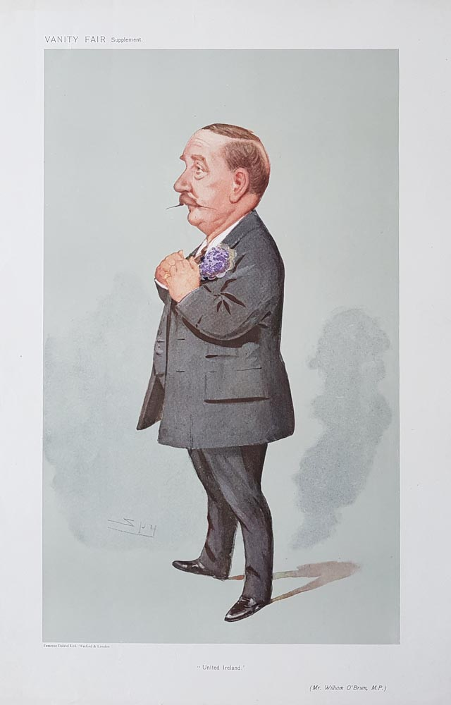 Original Vanity Fair Spy Print of Mr. William O'Brien for sale