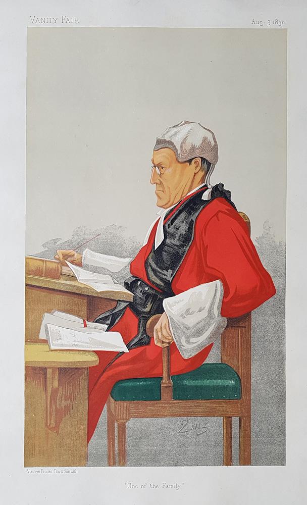 Vanity Fair Legal Print Sir Charles Edward Pollock 1890 For Sale