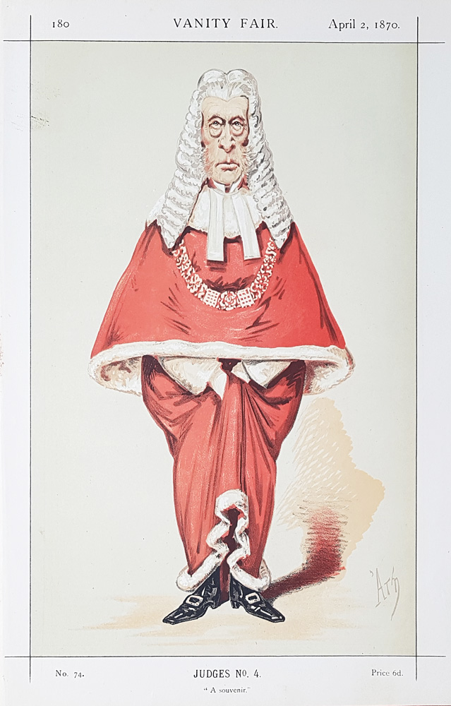 Sir Frederick Pollock  Vanity Fair Red Robe Judge print for sale