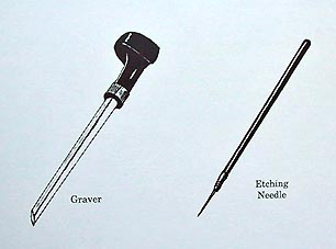 Etching Needle and Graver - Print Making Tools